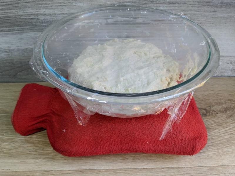 no knead bread with sourdough starter