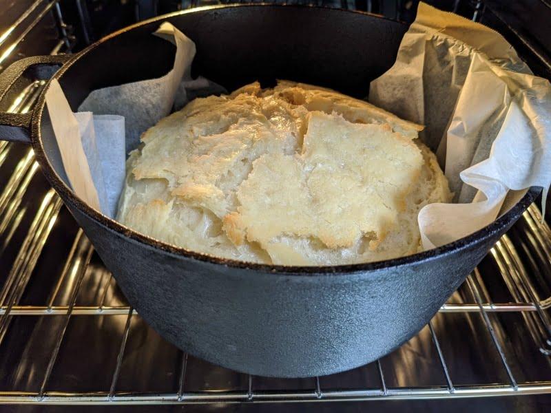 partially cooked sourdough bread